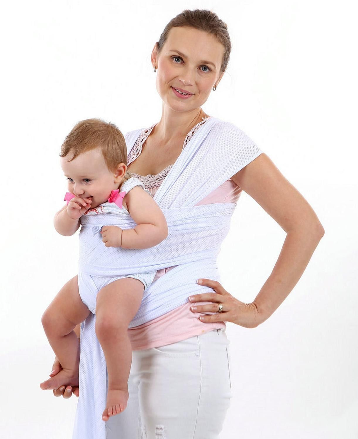 Baby Wrap Sling Carrier Soft Cotton Comfortable Baby Wrap Carrier