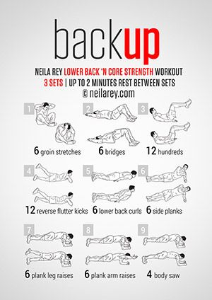 BackUp Workout Lower Back And Core Strength