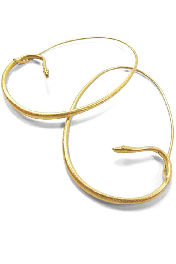 Gabriella Kiss earrings, $2,400, August, L.A., 323-653-2600.   - HarpersBAZAAR.com