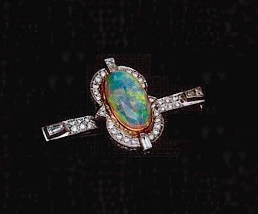 HRH Crown Princess Mary of Denmark's opal and diamond