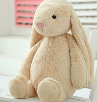 kawaii soft toys rabbit doll stuffed easter bunny plush with long ear #bunnyplush