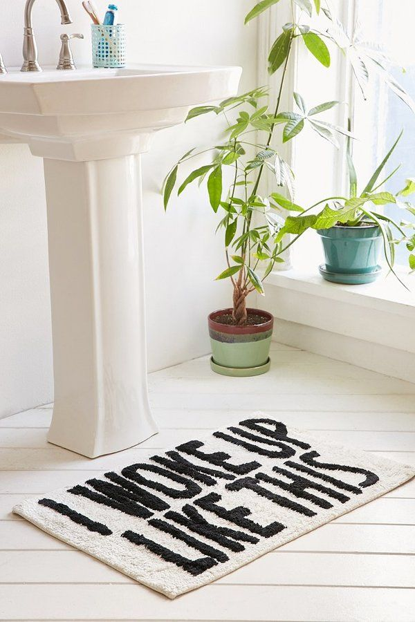 I Woke Up Like This Bath Mat On ShopStyle New Room - Cute bath rugs for bathroom decorating ideas