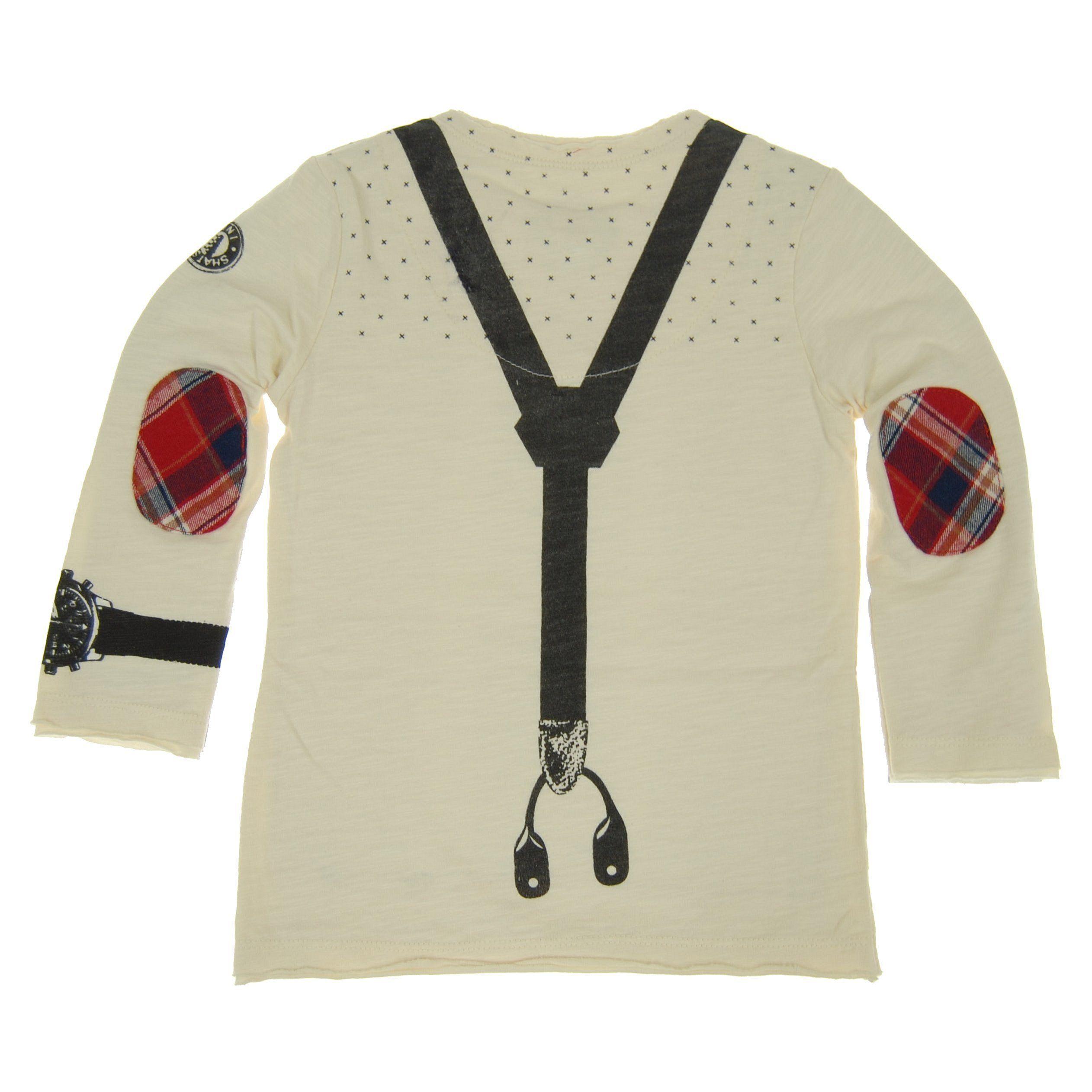 Mini Shatsu Real Suspender Bow Tie Baby Henley Shirt