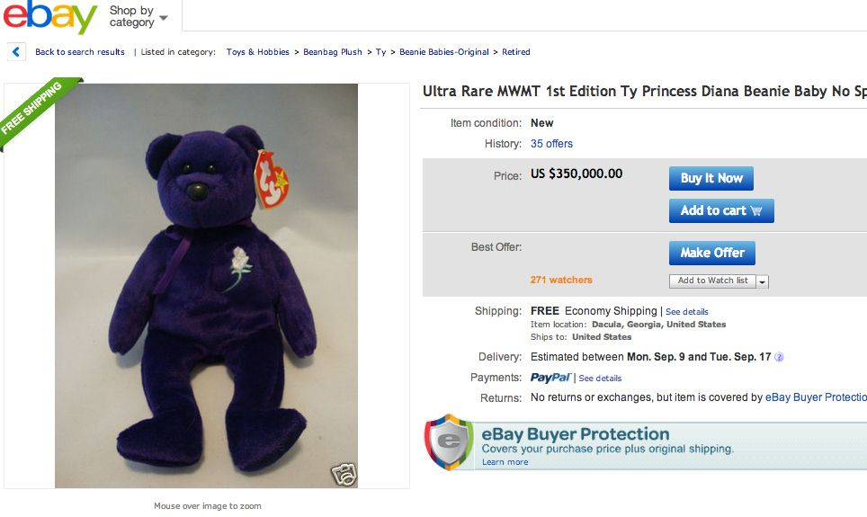 The most expensive valuable Beanie Baby by far is a first-edition ... 8e8ee67d055