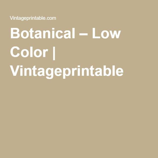 Botanical – Low Color | Vintageprintable