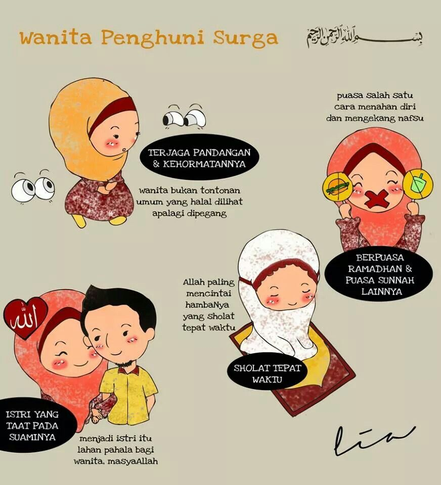 Gambar Kartun Islami Suami Istri Top Gambar Kartun Ilustrasi Lucu Motivasi