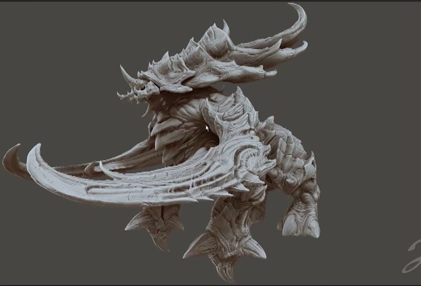 Character Design Zbrush Tutorial : Zbrush character creation workflow from blizzard