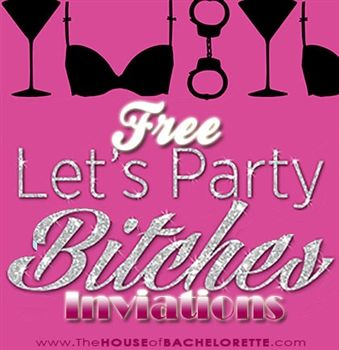 graphic regarding Free Printable Bachelorette Party Invitations named Cost-free Naughty Bachelorette Social gathering Invites Absolutely free Printable