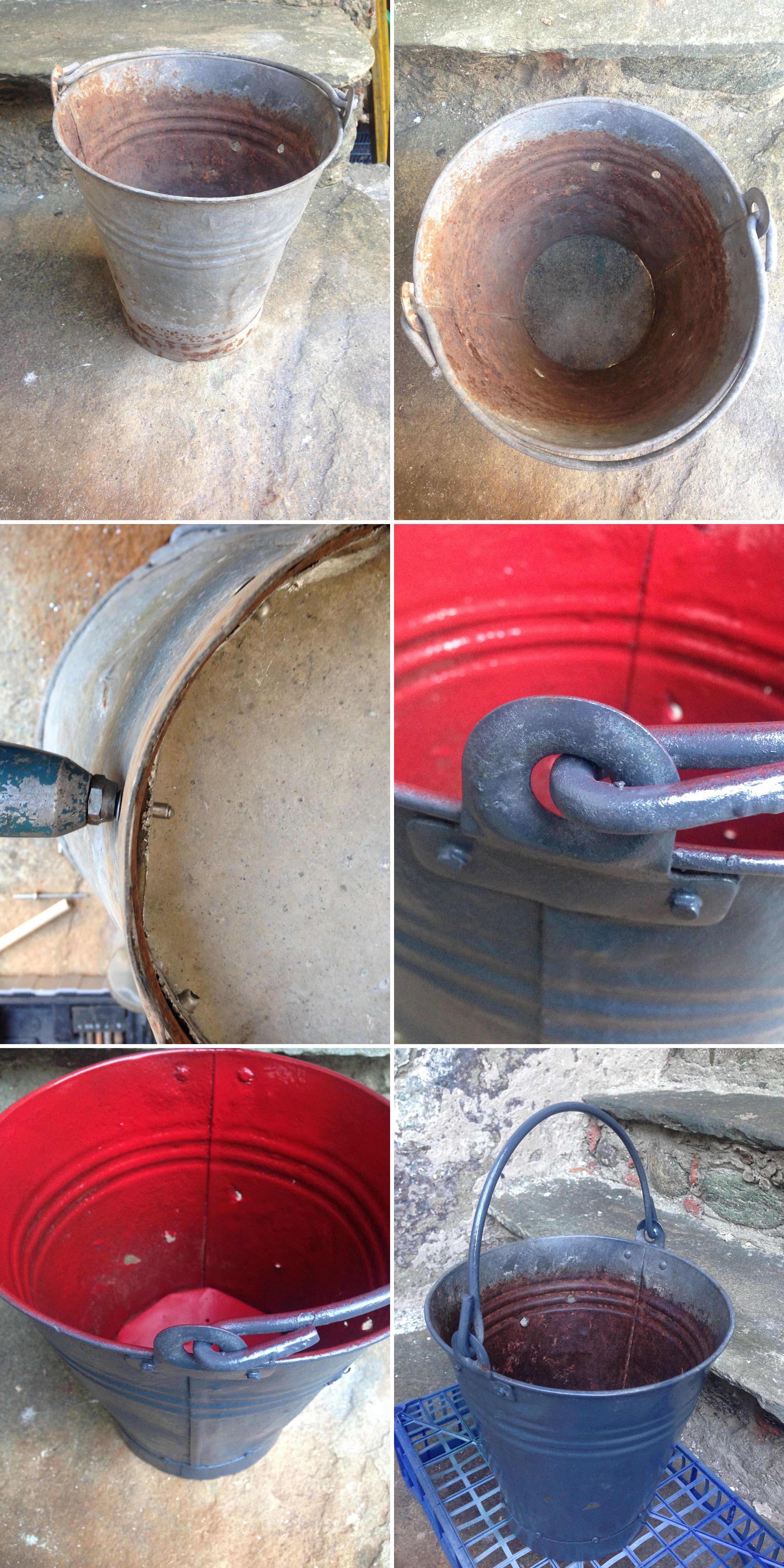 Restauro Secchiello In Latta Metal Bucket Restoring Metal Bucket Restoration Latta