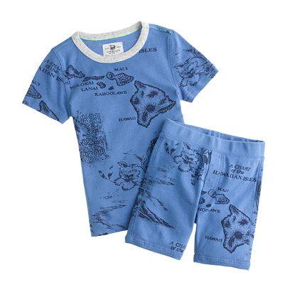 Boys' short-sleeve sleep set in Hawaii map print | KIDS' STYLE ...