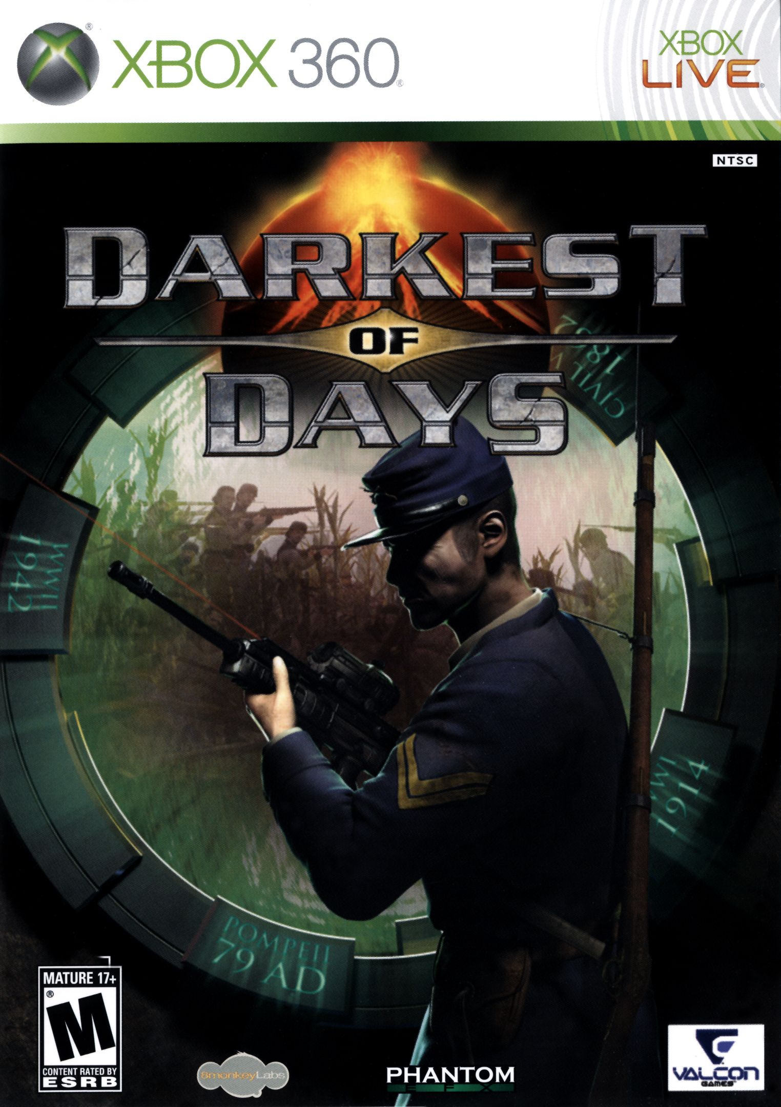 Darkest of Days Gaming pc, Video games xbox, Xbox 360 games