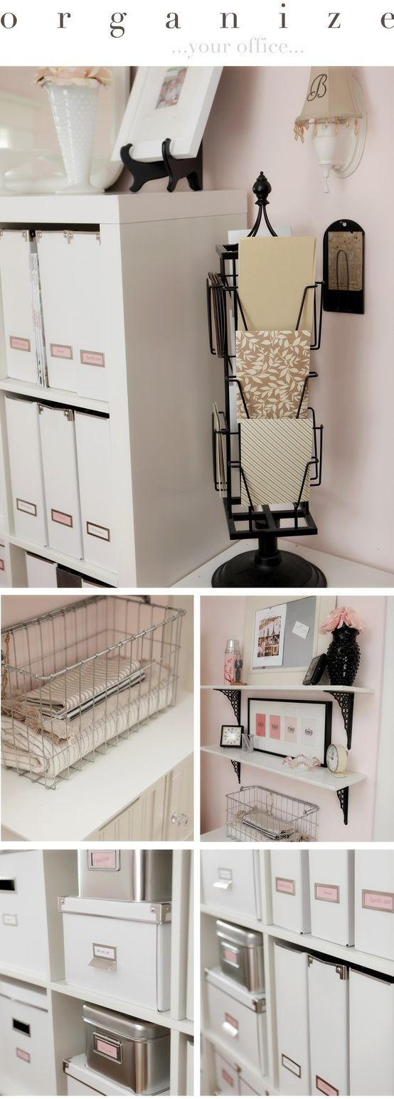 Genius Idea Ikea Expedit Shelves With Baskets For Storage: Black And White Office With