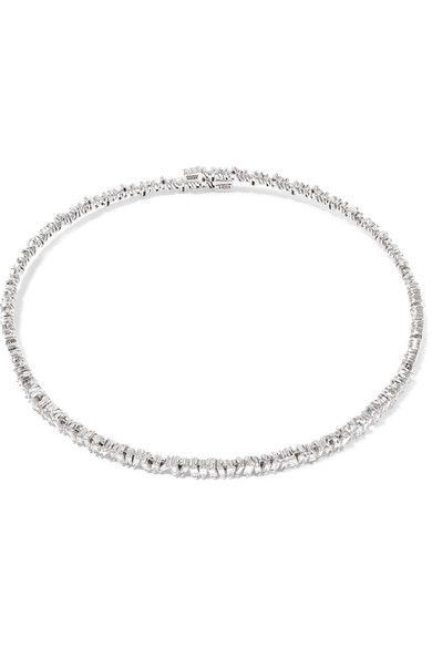 f53ab9bb83 Suzanne Kalan - 18-karat White Gold Diamond Choker #diamondchoker ...