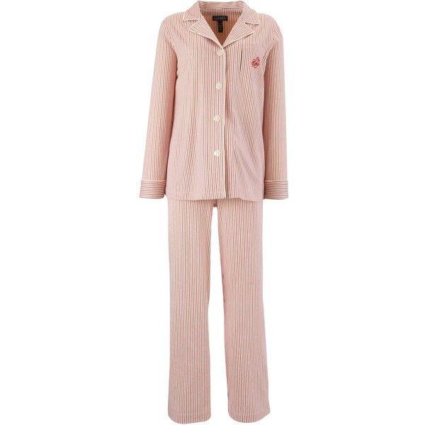 Lauren by Ralph Lauren Bingham Knit Pyjama Set, Multi ($150) found on Polyvore