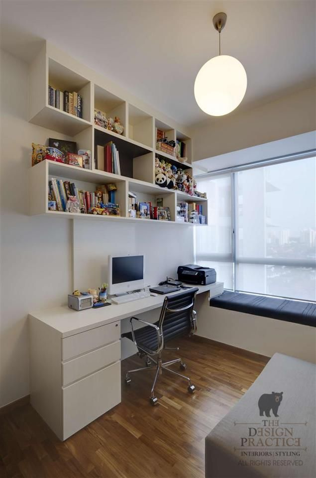 Study Table Integrated With Bay Window Study Table Designs