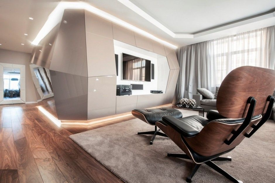 Interior design for the Dominion Apartment in Moscow, Russia by Geometrix Design