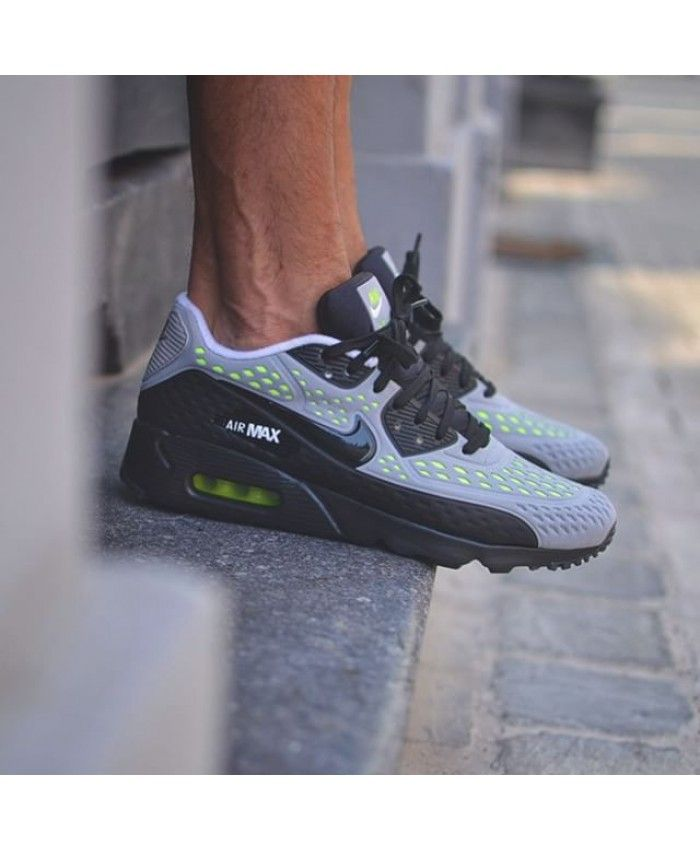 quality design 9caae d5dcc Nike Air Max 90 Ultra Br Wolf Grey Black White Volt Trainers Sale UK