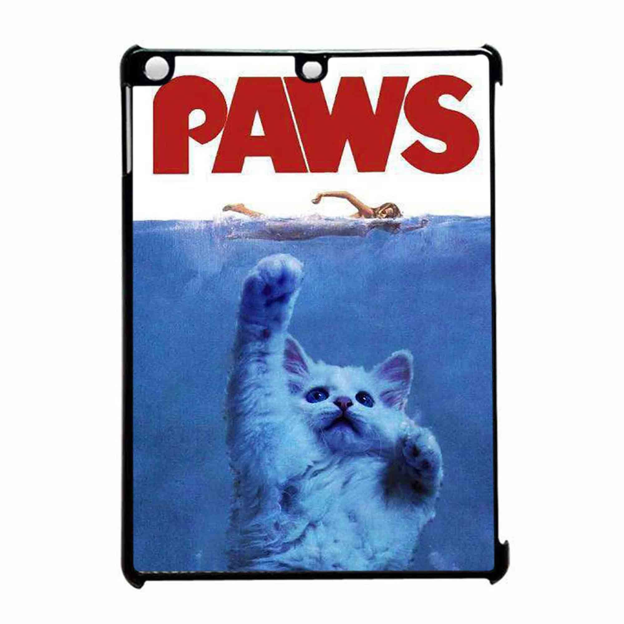 Paws Jaws Parody Funny Cat Attack iPad Air Case animals