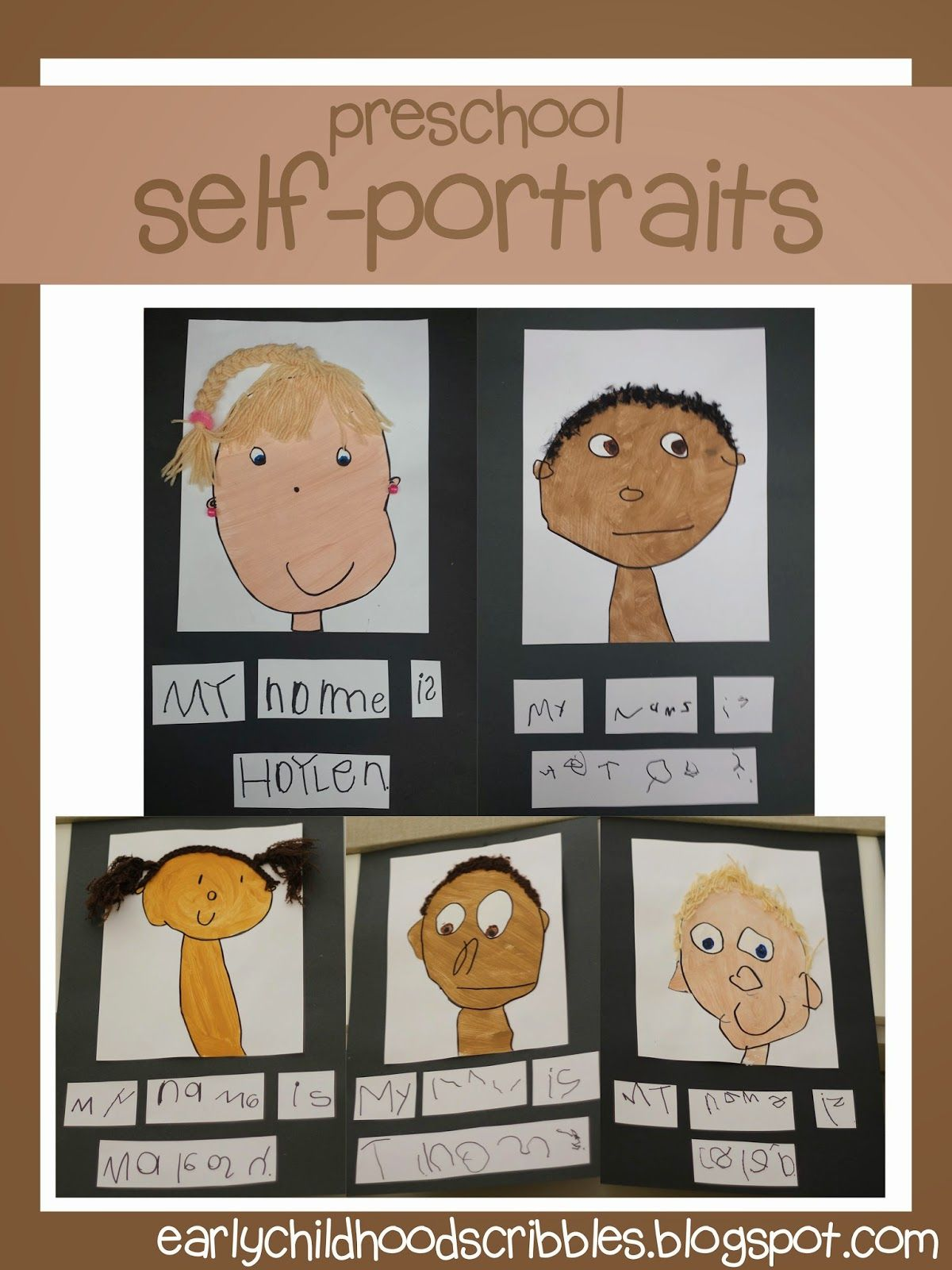 Early Childhood Scribbles Preschool Self Portraits Great