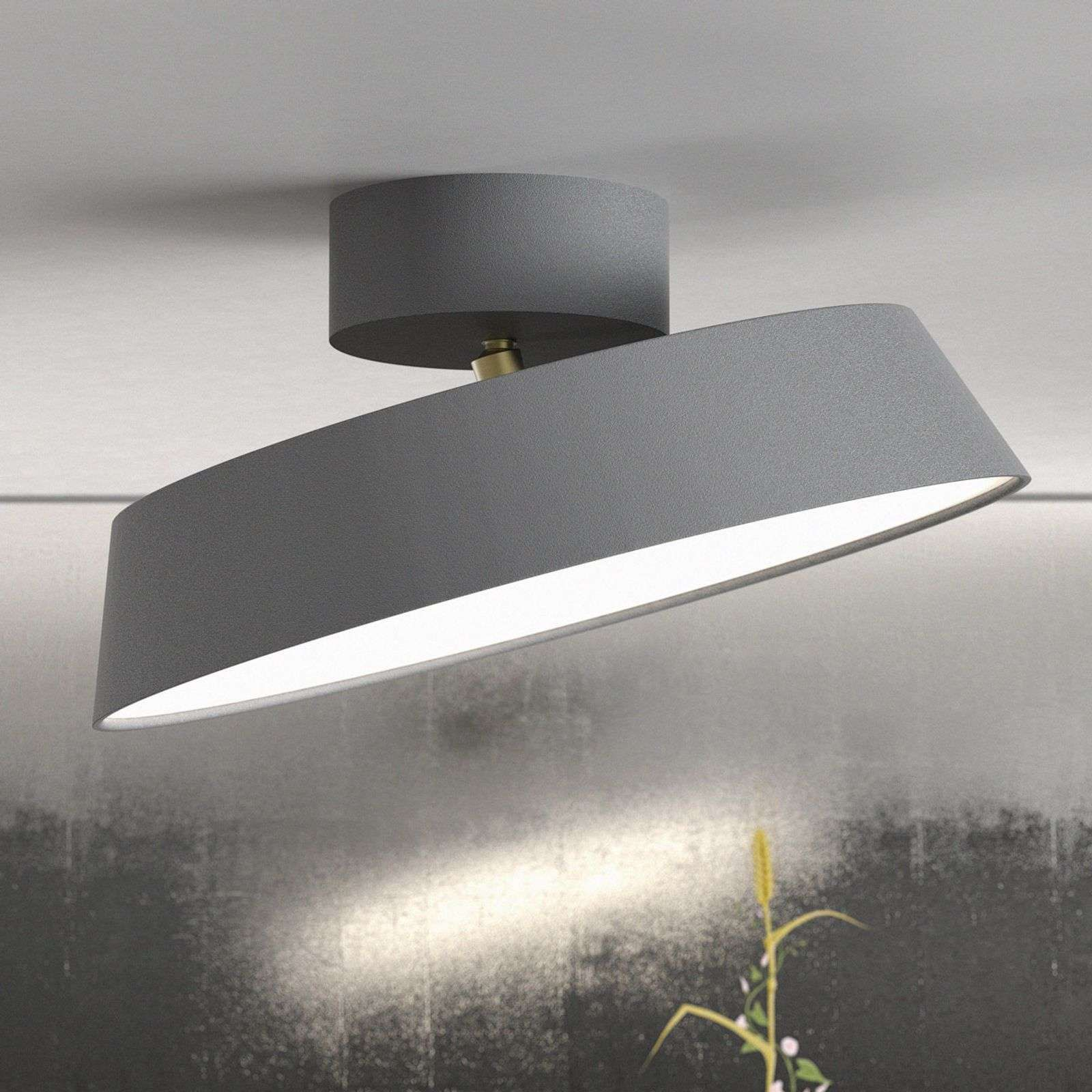 Led Plafondlamp Alba Zwenkbaar Grijs Dimbaar Van Nordlux Plafondlamp Plafondverlichting Led