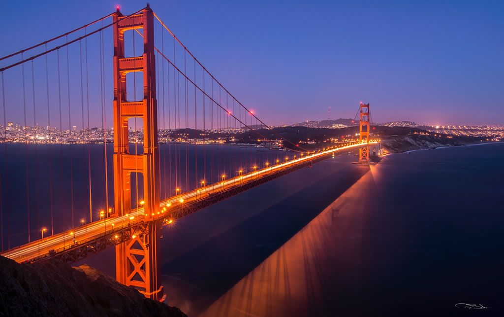 GOLDEN GATE AT NIGHT San Francisco, USA, 2013 • Lightroom Photo Gallery by Pepe Soho • Mexican Photographer