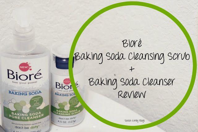 Sarah Emily Blogs: Bioré Baking Soda Cleansing Scrub+ Cleanser Review #mybiorefizz #ad