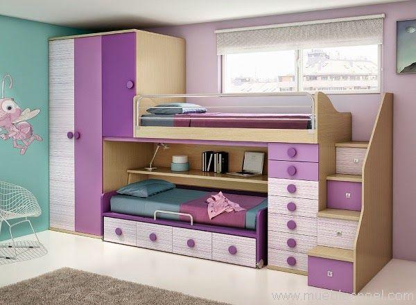 Dormitorios juveniles a medida literas con mesa literas for Muebles juveniles a medida