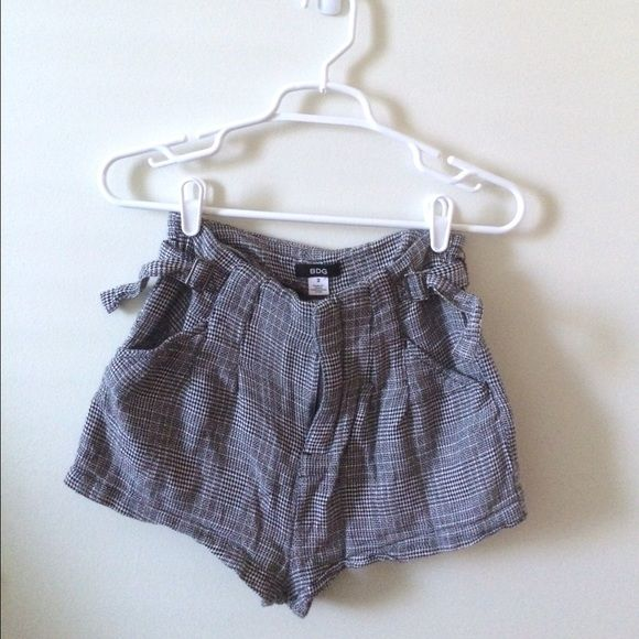 Urban outfitters bdg tweed look shorts Tweed look shorts from urban outfitters brand, bdg. There are adjustable belts on either side of the waist. Worn and washed once. I will not model because they don't fit me well. Urban Outfitters Shorts