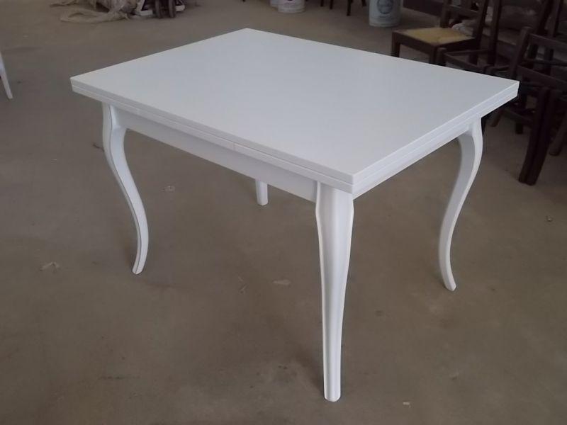 Tavolo allungabile in legno legno shabby chic laccato - Tavolo bianco shabby chic ...