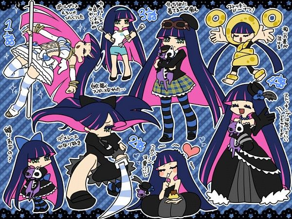 Panty And Stocking With Garterbelt Anarchy Honekoneko Panty And Stocking Anime Anime Character Design Girl Panty and stocking iphone wallpaper