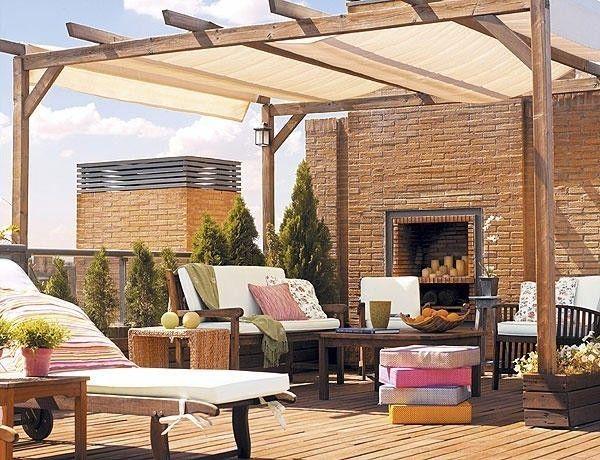 Come arredare un terrazzo moderno - Terrazzo moderno con zona pranzo