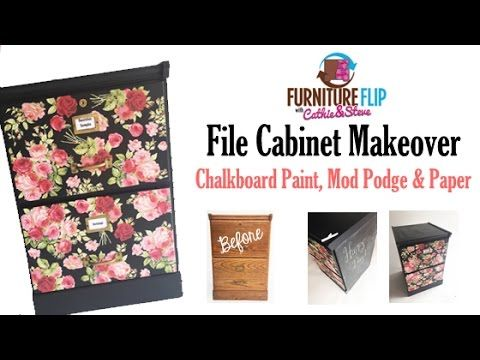 How To Decoupage Furniture   File Cabinet Makeover!