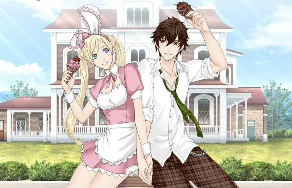 Bunny girl and her crush and boyfriend on a date having