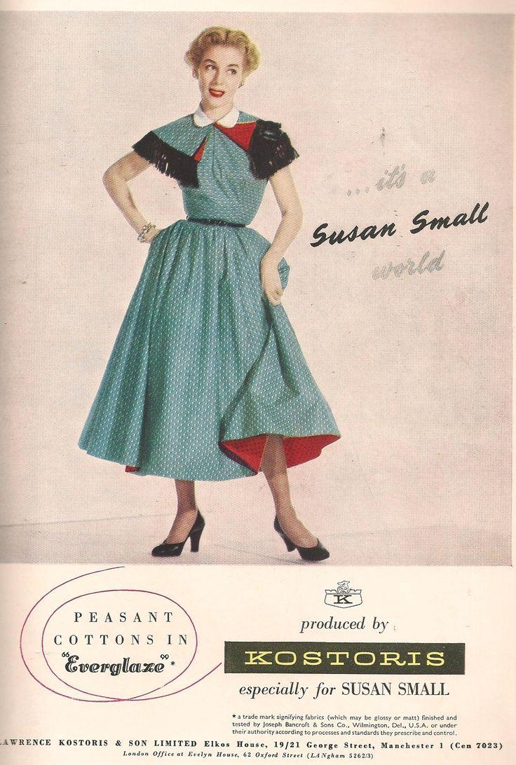4316c2c5ddb09 Susan Small fashion advertisement, Vogue, February 1953. | the ad ...