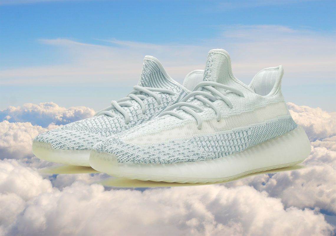 The Adidas Yeezy Boost 350 V2 Cloud White Has Plenty Of Blue