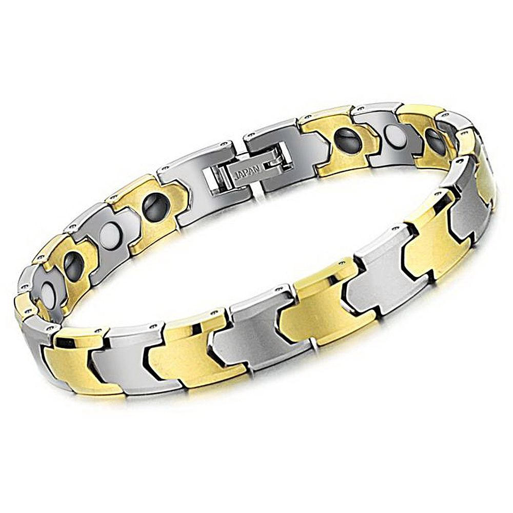 Mens ladies tungsten bracelet trendy unisex health care jewelry with