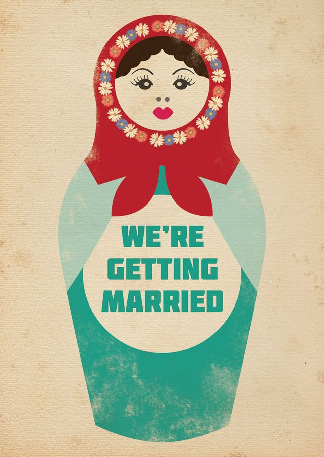 Russian Doll Themed Vintage Retro Style Wedding