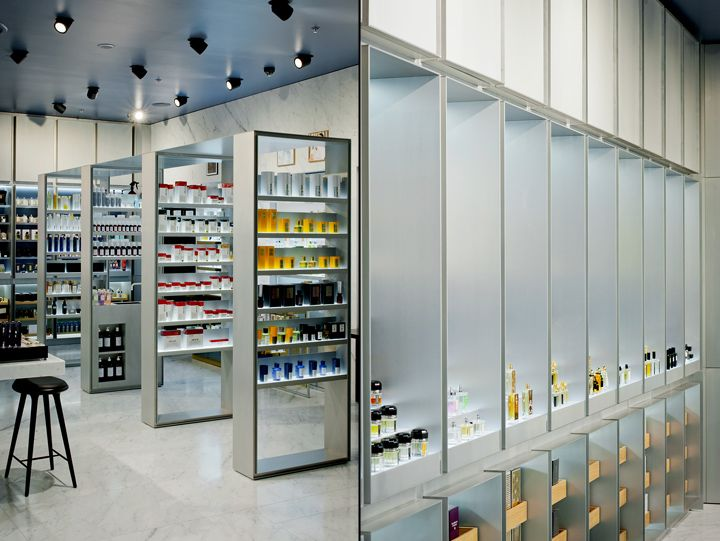 Cr me de la cr me haute parfumerie by inblum architects tallinn estonia cosmetics retail - Parfumerie salon de provence ...