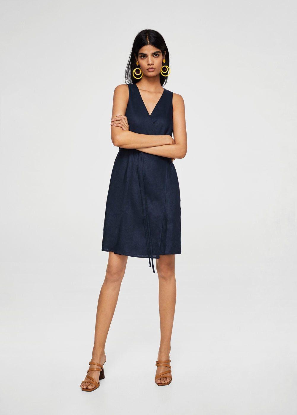 f52af8366ebb Φόρεμα κρουαζέ λινό - Γυναίκα
