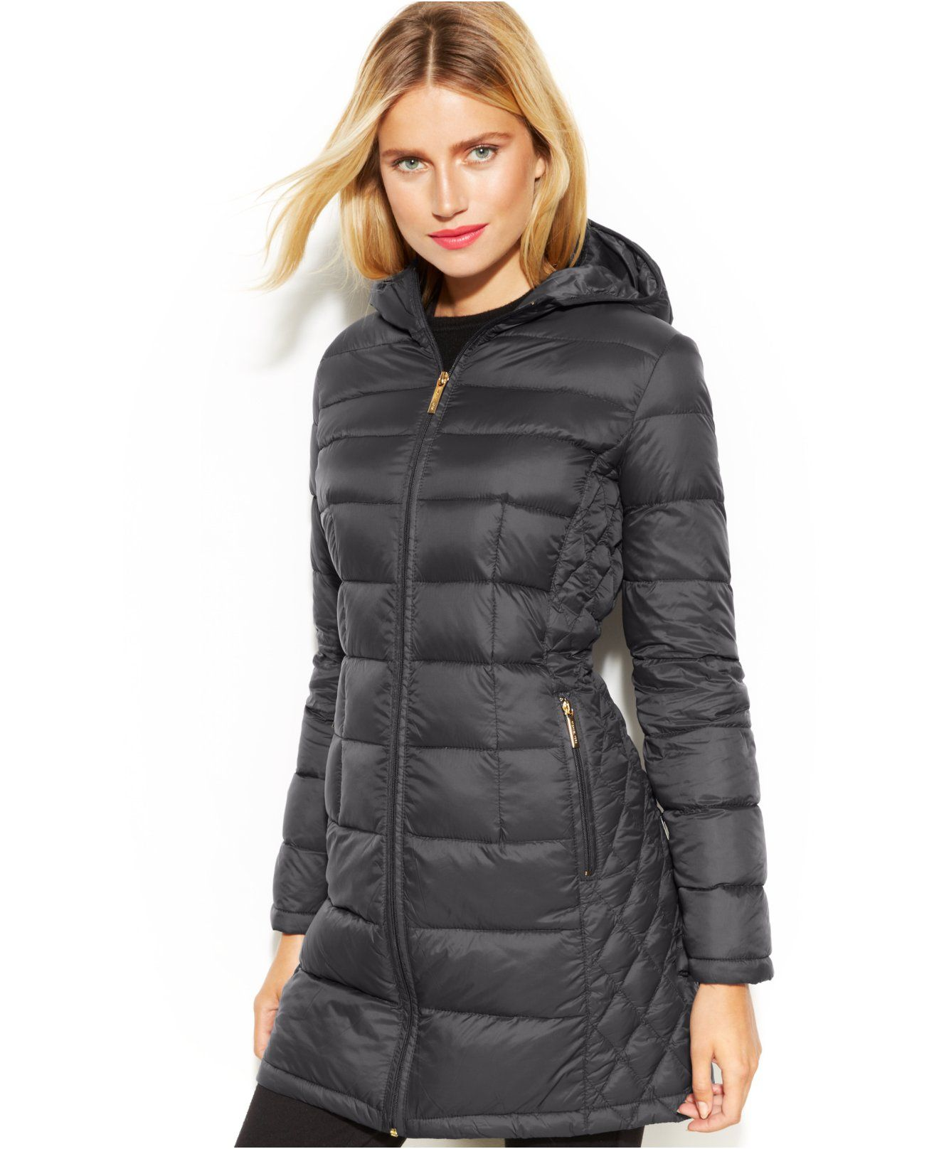 7cf333a3f27 MICHAEL Michael Kors Petite Quilted Down Packable Puffer Coat - Coats -  Women - Macy s