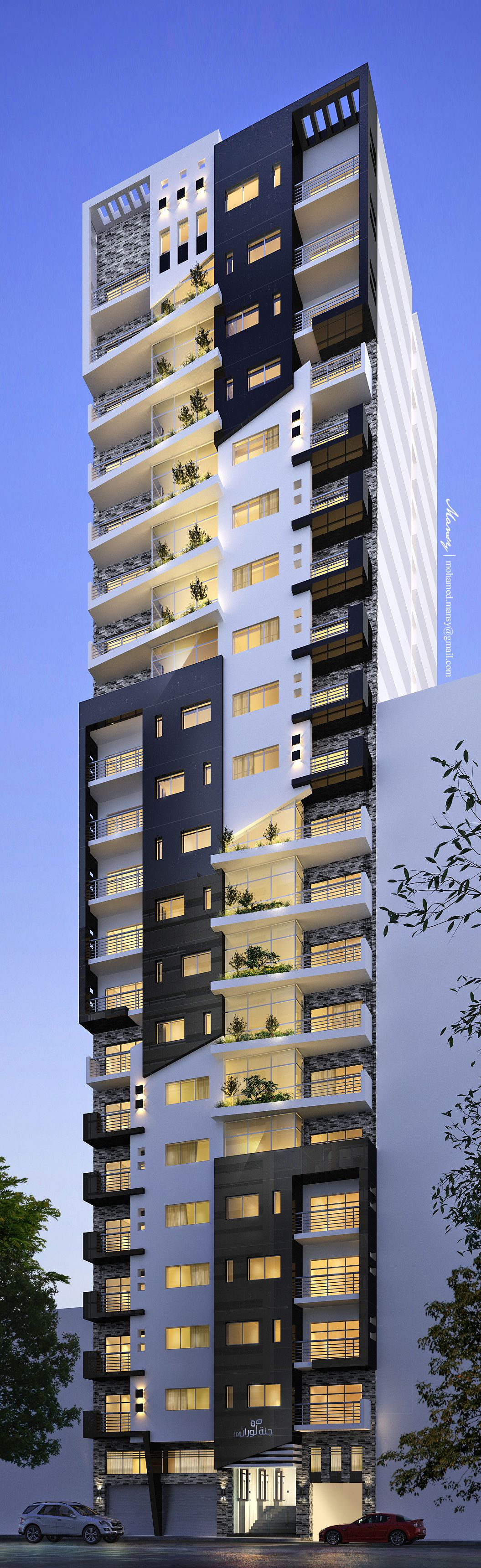 Architectural Design Of Residential Building Residential Building On Behance Appartment Design Concept