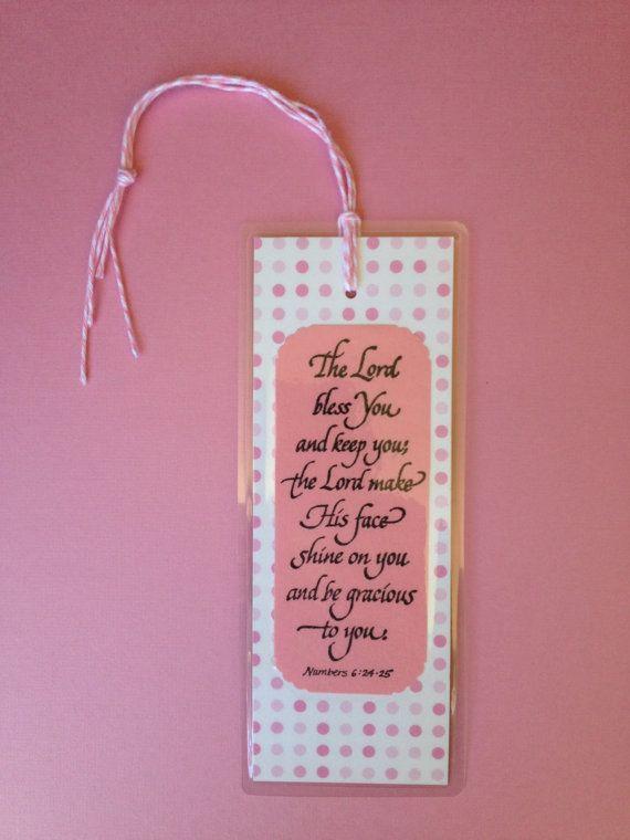 Religious Bookmark Scripture Bookmark Bible by MooMooHandmadeCards