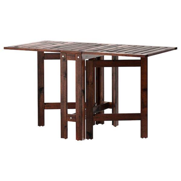 Ikea Tavolo Legno Giardino.Applaro Tavolo A Ribalta Da Esterno Marrone Mordente Marrone 20