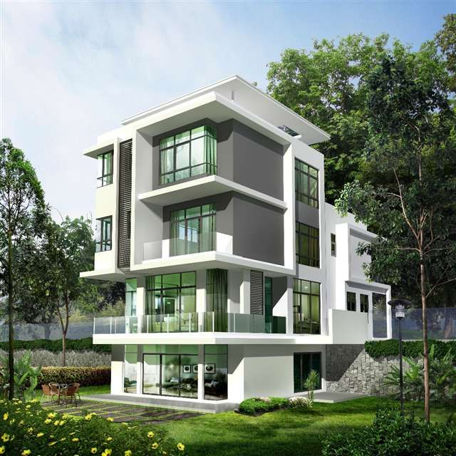 Modern House Exterior Design Modern Tropical House Design: New Bungalow For Sale At Beverly Heights, Penang