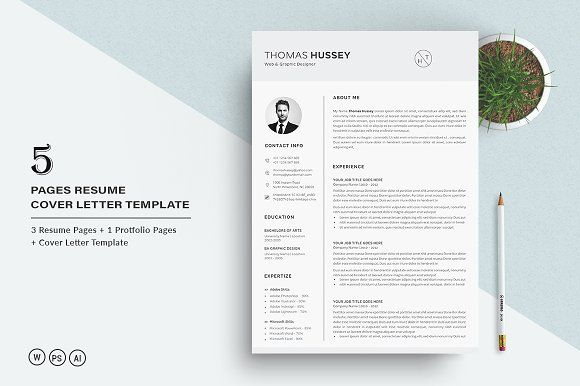 Resume/CV - 5 Pages Pinterest Resume cv and Template - resume 5 pages