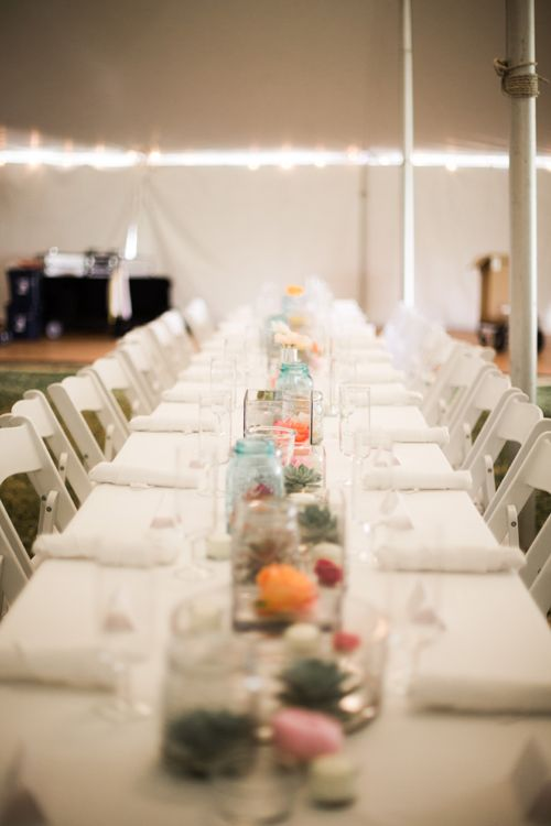 Colorful Wedding Reception in Texas