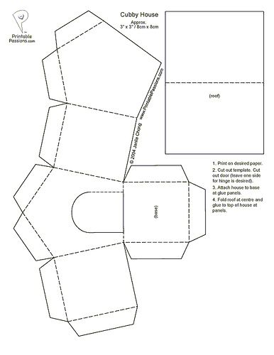 Paper House Template  Manualidades    House Template
