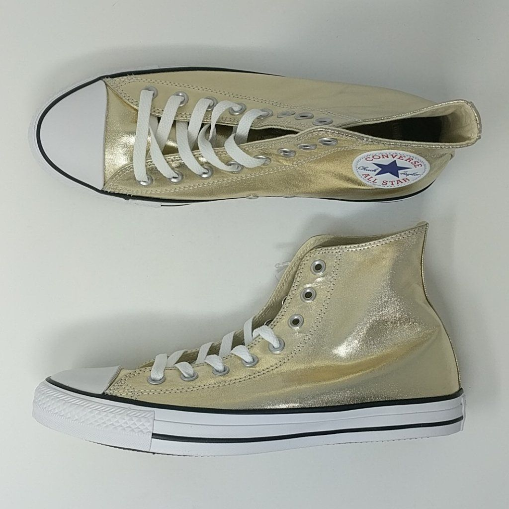 7829ddd35328d5 Converse Chuck Taylor All Star HI Gold Shoes Size 8.5 New 153178F – LoneSole