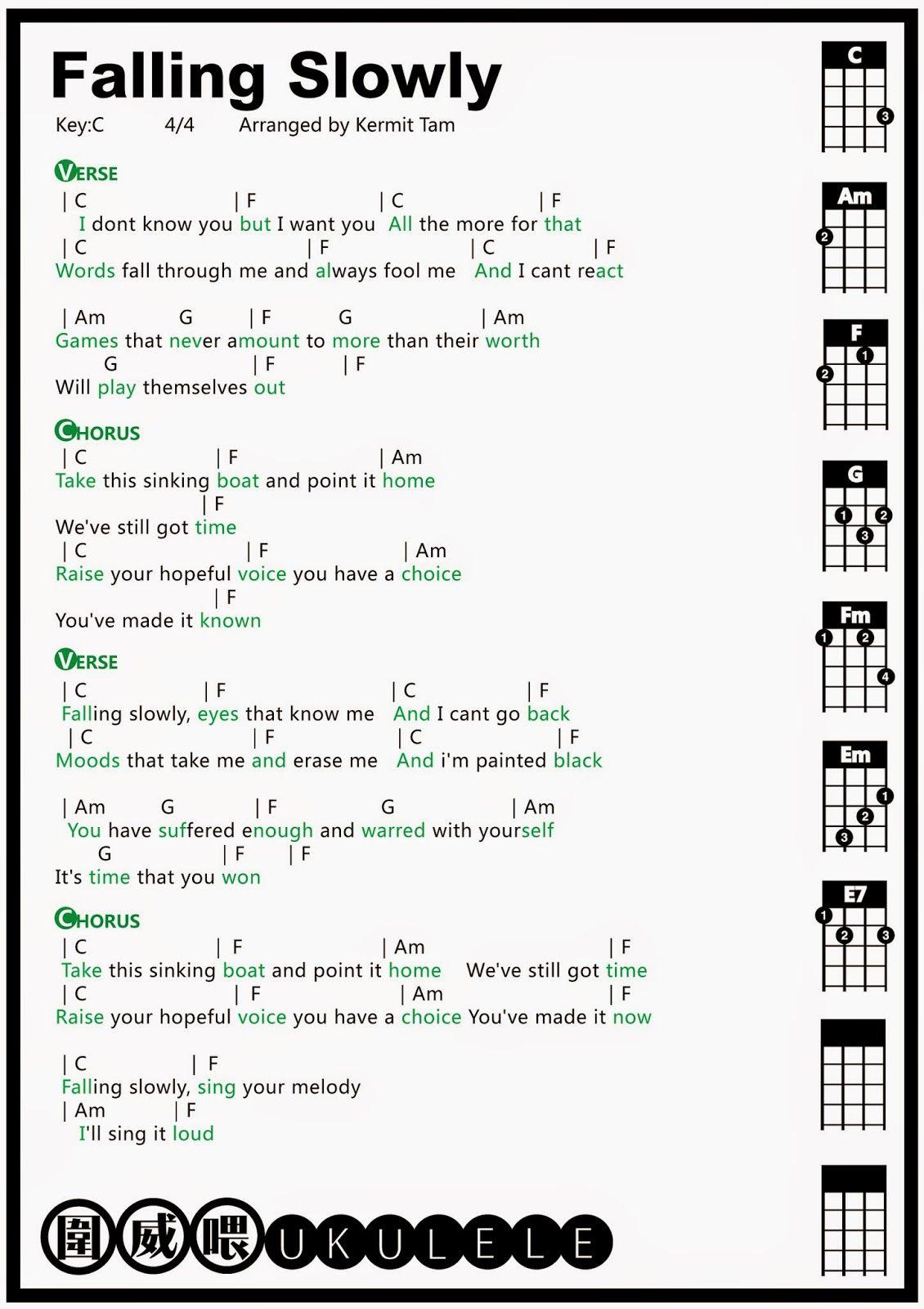 Ukulele Falling Slowly Tab Pinterest Uke String Diagram Related Keywords Suggestions
