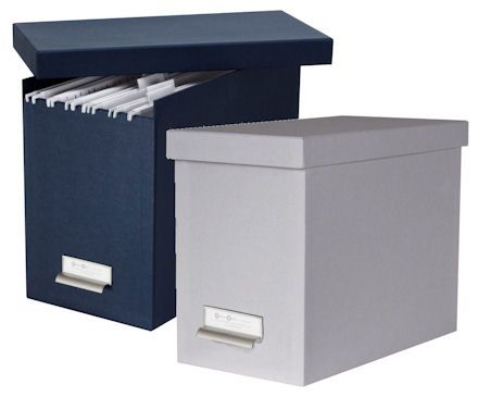 Lidded Suspension File Storage Bo Home Office Blue White